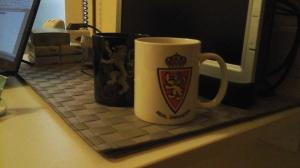 Esta taza del Real Zaragoza es lo que me llevé del Teleciencia... gracias a Óscar Menéndez. Una más en mi colección de tazas.