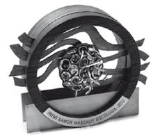 El Premio Ramon Margalef representa a la microalga Picarola margalefii, nombrada en honor al ecólogo español. Fotografía de la Generalitat de Catalunya.