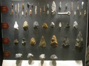 Evolución de las herramientas a lo largo de la historia del género Homo. Las más modernas son más pequeñas, lo que encajaría con el uso de proyectiles más pequeños que permitieron alejarse de las presas que se pretendían cazar. Fotografía de Eden, Janine and Jim. https://www.flickr.com/photos/edenpictures/4923456142/