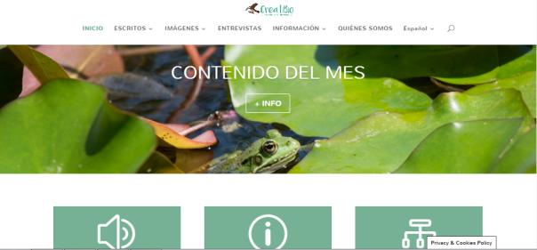 Página inicial de CreatiBio.