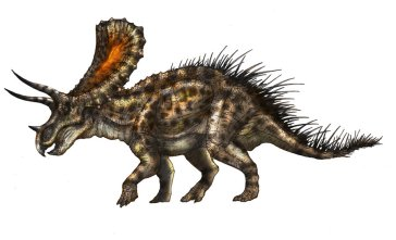 Recreación de un Torosaurus… ¿o quizá un Triceratops? Imagen de Fafnirx. http://fafnirx.deviantart.com/art/Triceratops-or-Torosaurus-280662862