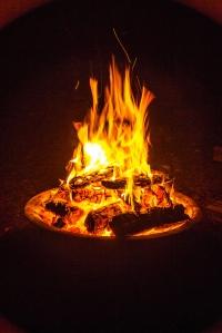 Una hoguera como esta probablemente era un lugar de reunión para los primeros homínidos que controlaron el fuego, el Homo erectus. Fotografía de Kevin Jarrett. https://www.flickr.com/photos/kjarrett/7984193597/