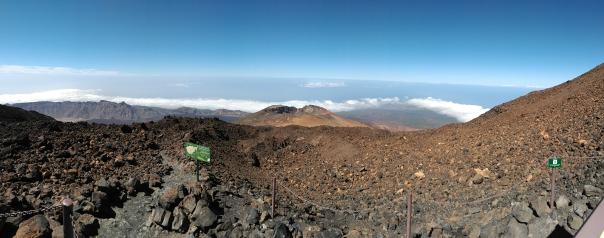 Panorámica del volcán Pico Viejo desde el Teide en la isla de Tenerife.