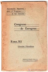 volumen congreso zaragoza asociación española para el progreso de las ciencias