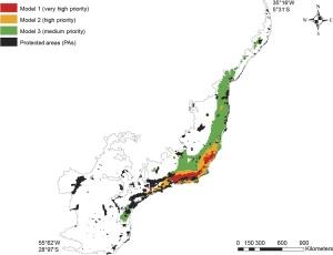 zona conservación prioritaria modelo