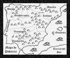 mapa Iberia Podarcis nombres lagartijas