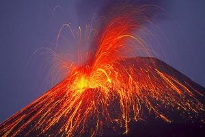 erupción extinción