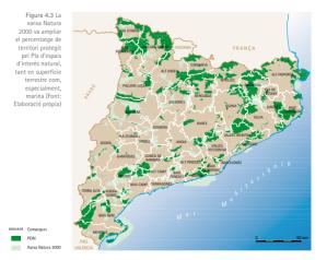 espacios protegidos catalunya